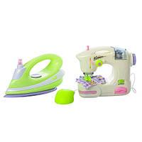 Детский набор бытовой техники (утюг, швейная машинка), фото 1