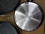 Набор сковородок с мраморным покрытием edenberg (20, 24, 28 см), фото 2