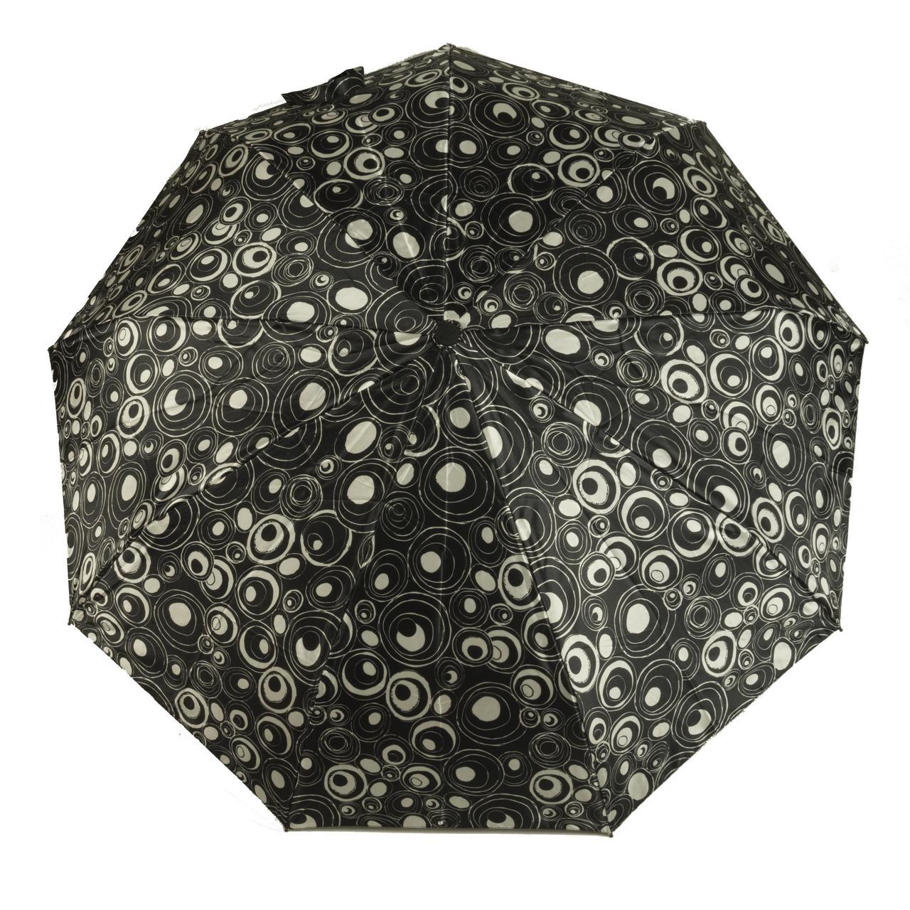 Женский симпатичный прочный зонтик автомат Frai REGEN  art. 565 черный/белый (102937)
