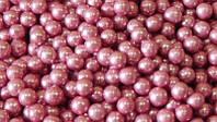 Сахарные бусинки розовые 3мм 50г