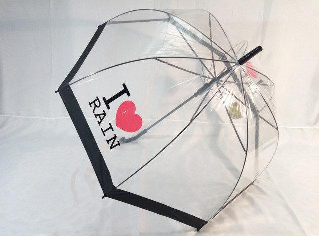 Молодежный зонт трость с прозрачным куполом на 8 спиц