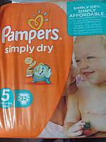Подгузники Pampers simply dry 5 (15-25 кг), 32 шт