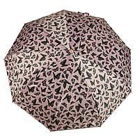 Женский симпатичный прочный зонтик автомат Frai REGEN  art. 565 розовый/черный (102936), фото 1