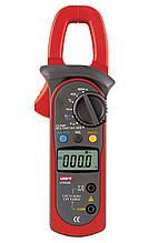 Токоизмерительные клещи UNI-T UT204А (UTM 1204A) (DC/AC до 400А, 600В, 40МОм, 10МГц, 100мкФ, 1000°C) с НДС