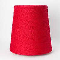 Пряжа Hotcot, красный (10% шерсть, 30% хлопок, 30% вискоза, 30% ПА; 1800 м/100 г)