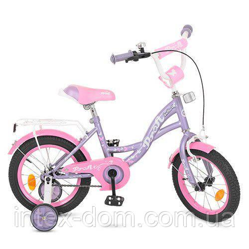 """Двухколесный велосипед Profi Butterfly 14"""" (Y1424)"""