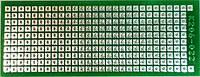 МАКЕТКА K206-022 Плата макетная 75 х 29 мм, односторонняя, зеленая маска