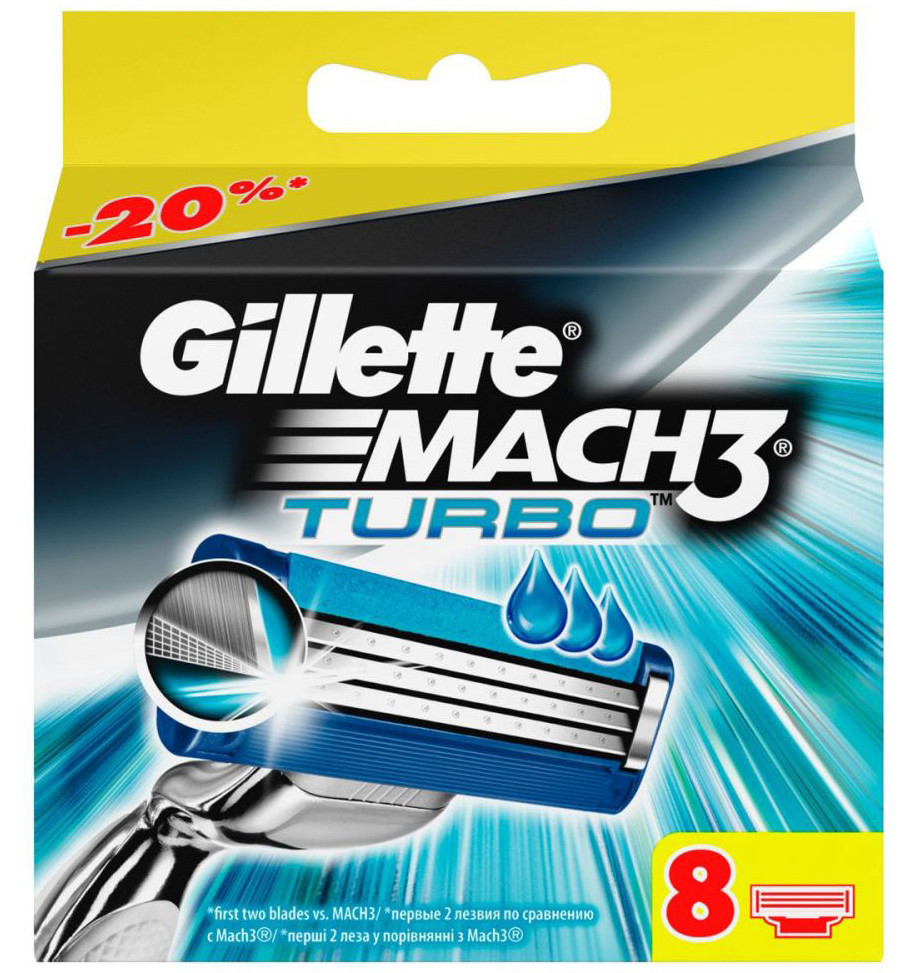 "Картридж Gillette ""Mach3 Turbo"" (8)"