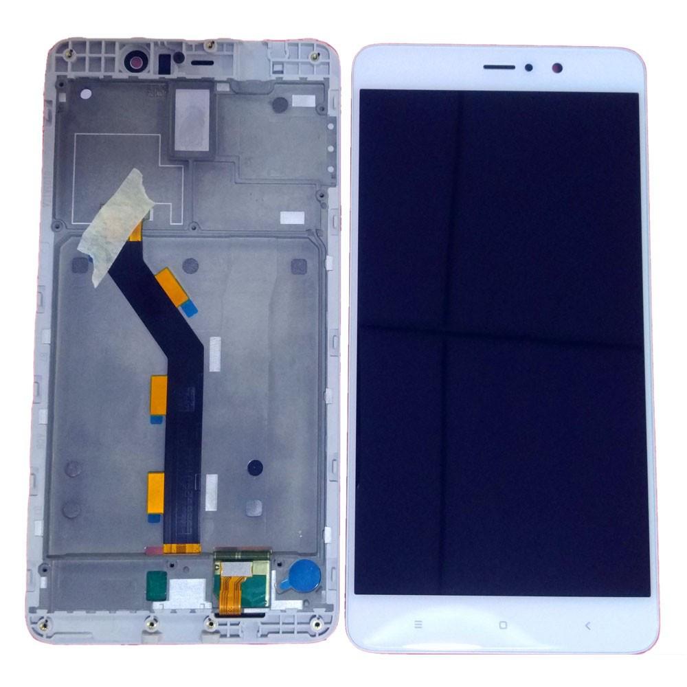 Дисплей для Xiaomi Mi5s с тачскрином белый с рамкой Оригинал