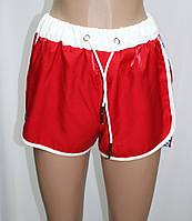 Шорты молодежные, свободного покроя, спортивный стиль, красные, фото 1