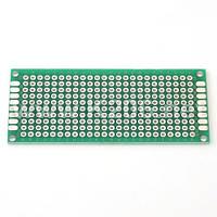 МАКЕТКА MP254-24X10-D Плата макетная 24x10 площадок, двухсторонняя; шаг 2,54 мм; размер 70x30мм