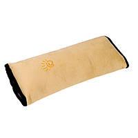 Подушка-накладка SUNROZ на ремень безопасности для детей Желтый (SUN1270)