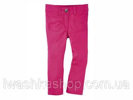 Яркие розовые джинсы slim на девочку 1 - 1,5 года, размер 86, Lupilu