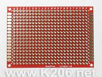 МАКЕТКА MP254-24X18-D Плата макетная 24x18 площадок, двухсторонняя; шаг 2,54 мм; размер 70x50мм