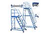 Лестница складская передвижная, высота рабочей площадки от 1000 мм