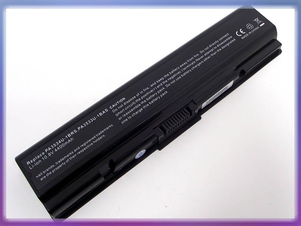 Батарея Toshiba (PA3534U) Satellite A215 (10.8V 4400mAh). Black
