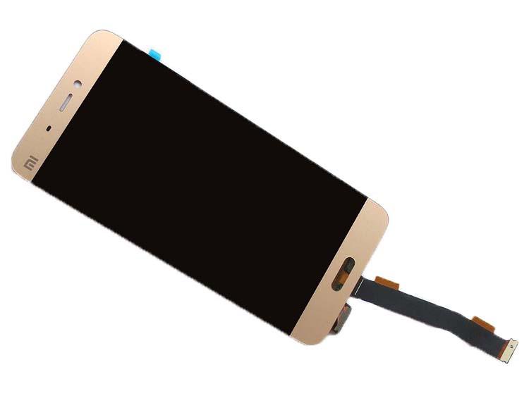 Дисплей для Xiaomi Mi5s с тачскрином золотистый Оригинал