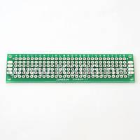 МАКЕТКА MP254-28X6-D Плата макетная 28x6 площадок, двухсторонняя, шаг 2,54 мм; размер 80x20мм