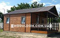 Каркасно-щитовой дом КРУГЛОГОДИЧНОГО проживание 6х6м с террасой 6х3м, комплект СУ, c фундаментом