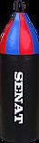 Мішок боксерський шоломоносний 70х21, кожзам, чорний, 1222-blk, фото 2