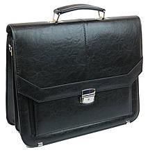 Мужской портфель из эко кожи Arwena Польша TM0009 черный