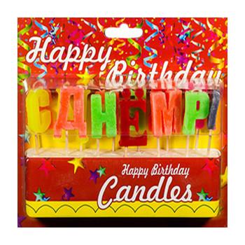 Свечи на торт С Днем Рождения.