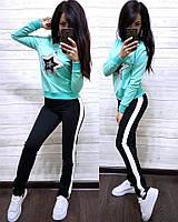 Костюм спортивный женский свитшот со Звездой и брюки с полосой f827b3f3dd1c5