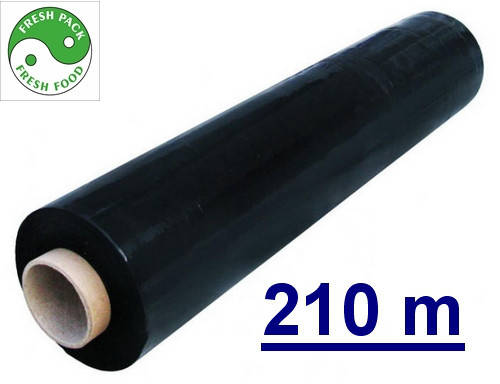 Стрейч пленка  20мкм черная, фото 2