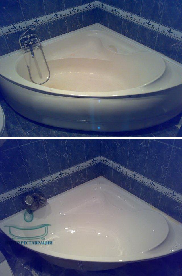 Реставрация акриловых ванн и поддонов