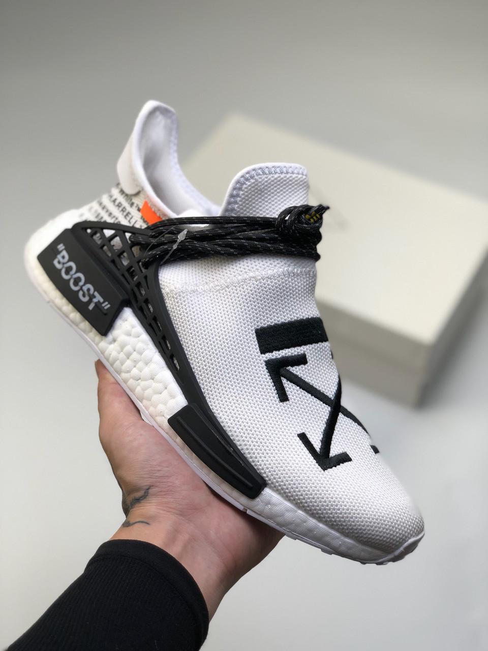 26bf7d7fb Кроссовки Adidas Human Race NMD x Pharrell Williams x Off-White адидас  мужские женские реплика