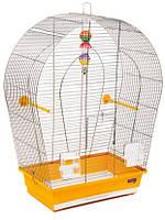 Природа Клетка «Арка большая» для мелких и средних декоративных птиц, 44х27х65 см,хром