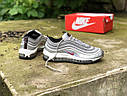 Женские кроссовки Nike Air Max 97 металлик, фото 2