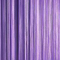 Оригинальные однотонные шторы нити