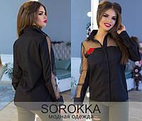 Нарядная рубашка с вышивкой Производитель Украина. прямой поставщик. р. 42-46