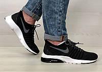 Кроссовки мужские в стиле Nike Air Presto TP QS код товара 4S-1082. Черные с белым