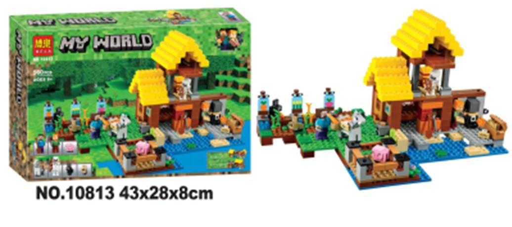 """Конструктор Minecraft """"Береговая Цитадель"""", 560 деталей, в коробке, 42*28*8см., 10813"""