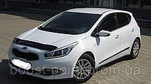 Дефлектор капота (мухобойка) Kia Ceed II HB Wagon Pro (киа сид 2013+)