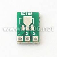 AP-SOT-89-223 Плата-переходник для корпусов SOT89 / SOT223; размер 12x8мм