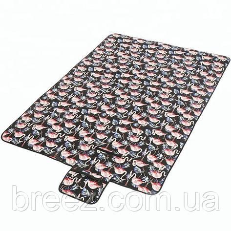 Коврик для пикника Фламинго черный, фото 2