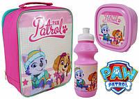 Наборы 3в1 для завтраков ланчбокс, бутылочка для воды, сумка Щенячий Патруль для девочки