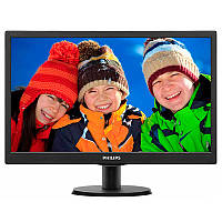 "✓Монитор 18.5"" PHILIPS 193V5LSB2/62 Black TFT TN матрица 16:9 разрешение 1366 x 768 отклик 5 мс"