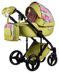 Детская коляска универсальная 2 в 1 Adamex Luciano jeans Q312 (Адамекс Лусиано, Польша)