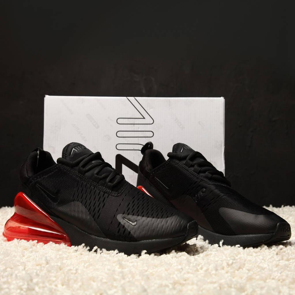 Nike Air Max 270 Black/Black Hot Punch (реплика)