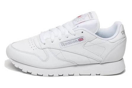 Кроссовки рибок классик белые кожаные спортивные повседневные (реплика) Reebok  Classic All White 4f33e9be287