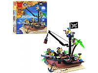 Конструктор BRICK 306 Корабель піратів, 178 елементів, в коробці 28,5см*6см*28,5см