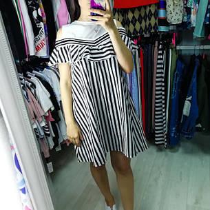 Платье полосатое белый верх 510-140-2, фото 2