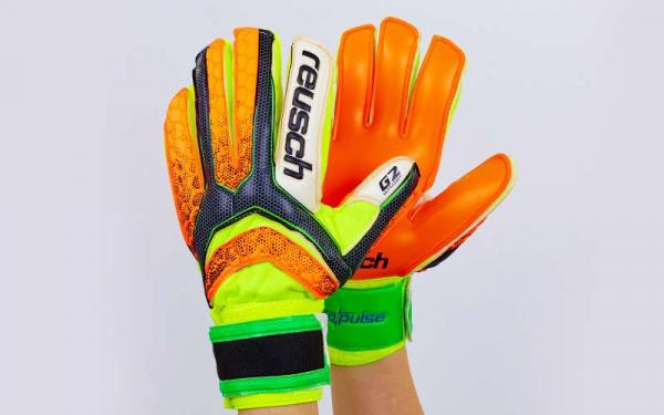 Перчатки Вратарские (оранжево-салатовые) Reusch M1 pro 873