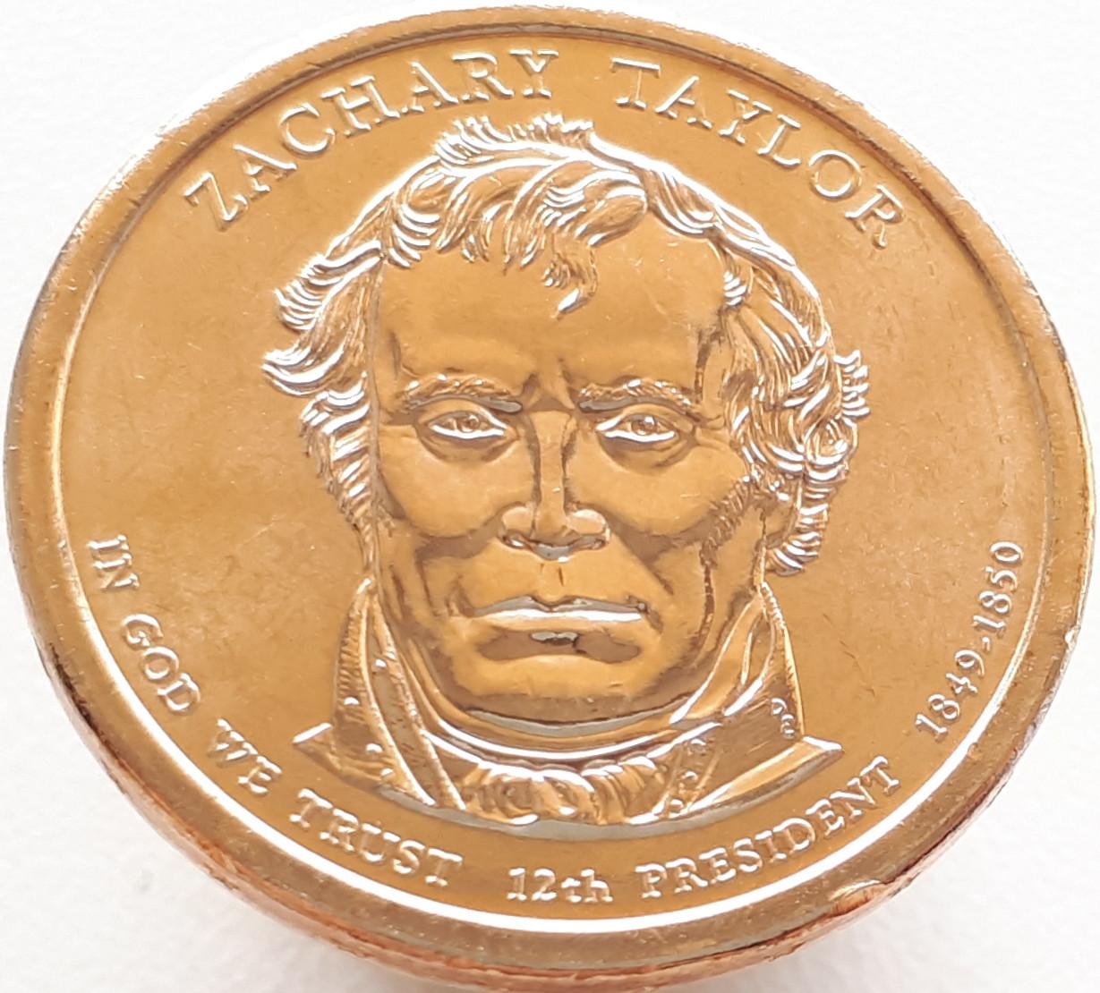 США 1 доллар 2009 - Закари Тейлор 12 Президент