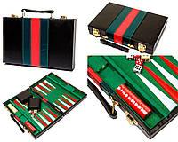 Оригинальные красивые нарды в кейсе из прессованной кожи (45х55 см) PX45 (SaN)