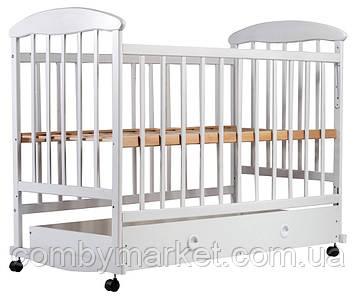 Кроватка «Наталка» с ящиком ольха